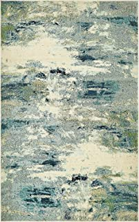 Island Collection Modern Contemporary Rugs Living Dinning Bedroom Area Rug 5' x 8', Light Blue