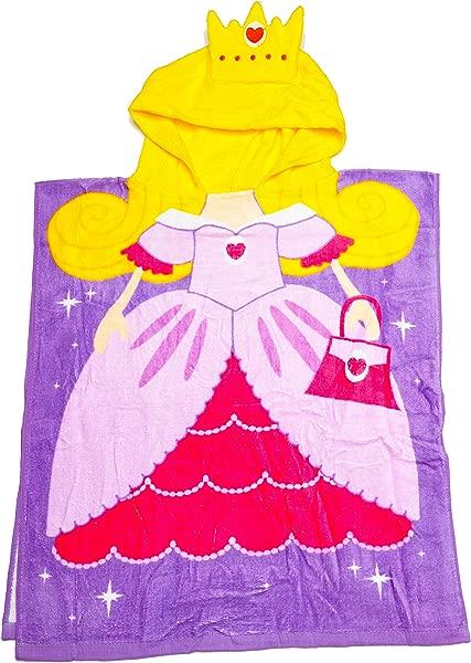 ROYAL WEAR Kids Princess Hooded Bath Towel 20X24