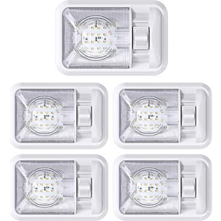 Lot of 4 BBT Brand Waterproof 12 v White LED Utility Lights with Switch for RVs