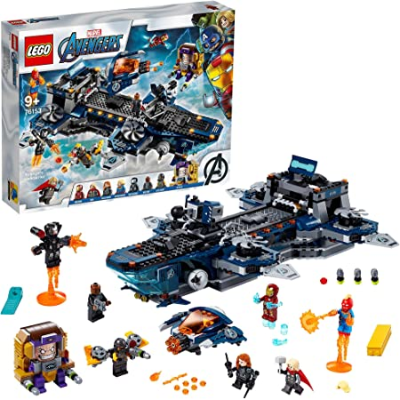 Super Heroes LEGO76153 MarvelAvengersHelicarrierToywithIronMan,Thor&CaptainMarvel, Series