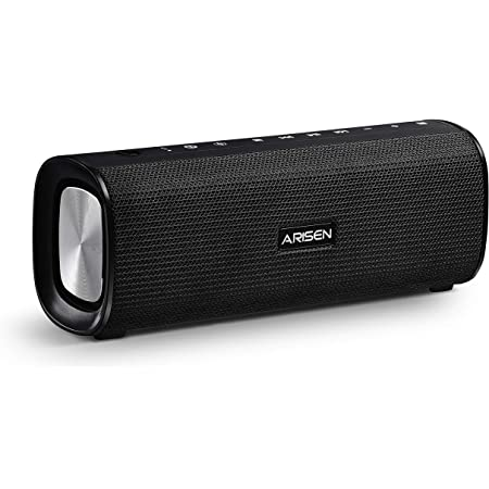 Portable Bluetooth Speakers, ARISEN SoundBox Pro Wireless Bluetooth Speaker with 10W Stereo Sound, Bluetooth 5.0 & Waterproof Outdoor Speaker, Louder Volume speaker, Multiple Port Connections RockRoll