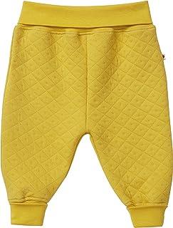 Piccalilly Soft & Cosy Uni Jaune Moutarde Matelassé Bébé Pantalons de Traction, Coton Bio, Unisexe