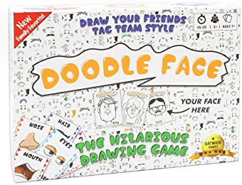 Doodle Face Game - New Hilarious Game of Drawing Your Friends and Family - A Drawing Game for Families - Stay at Home...