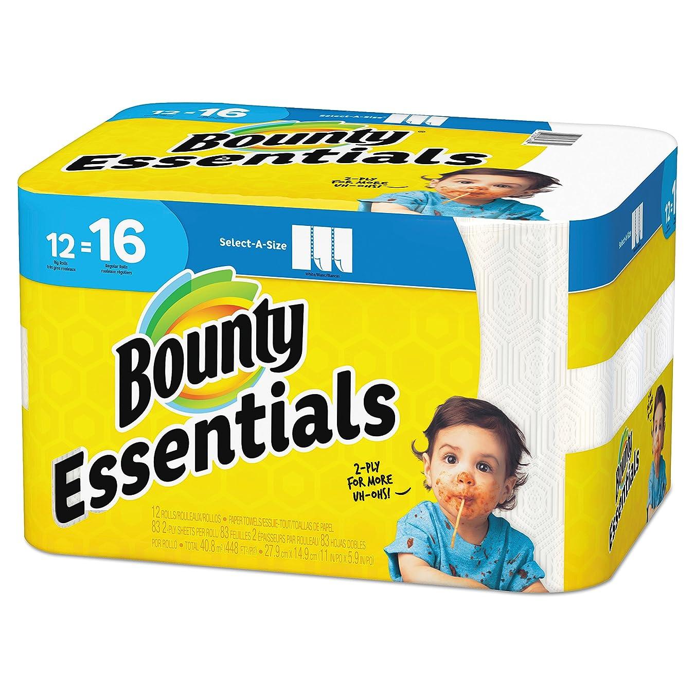 曲線治療援助Bounty 92970基本select-a-size紙タオル、5?–?9?/ 10?