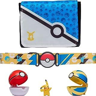 "Pokemon Bandolier Set - Features a 2"" Pikachu Figure, 2 Clip 'N' Go Poke Balls, a Clip 'N' Go Poke Ball Belt, and a Clip '..."