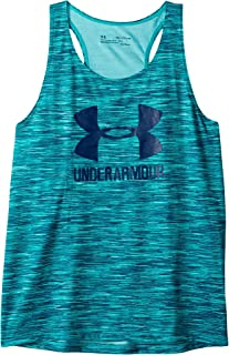 Under Armour UA Big Logo Nov. Slash Tank For Kids - Teal L