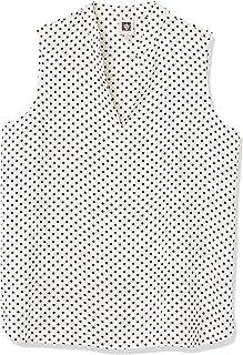 ANNE KLEIN Women's Mandarin Collar Split Neck Blouse, Anne