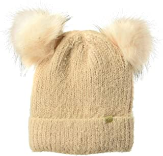 D&Y Women's David & Young's Sable Touch Knit Double Pom Beanie
