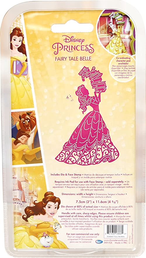 Character World Limited DUS0607 Fairy Tale Belle Die Set Silver