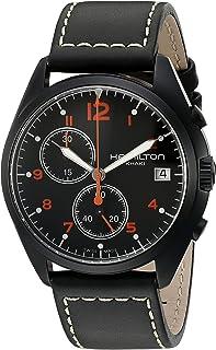 Hamilton Mens Quartz Watch, Analog Display and Leather Strap H76582733