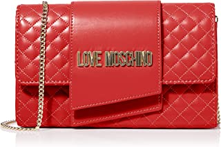 Love Moschino Borsa Quilted Nappa Pu, Pochette da Giorno Donna, 13x23x6 cm (W x H x L)