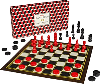 Ridley's Classic 2-in-1 57-Piece Chess & Checkers Folding Family Board Game, Ages 8