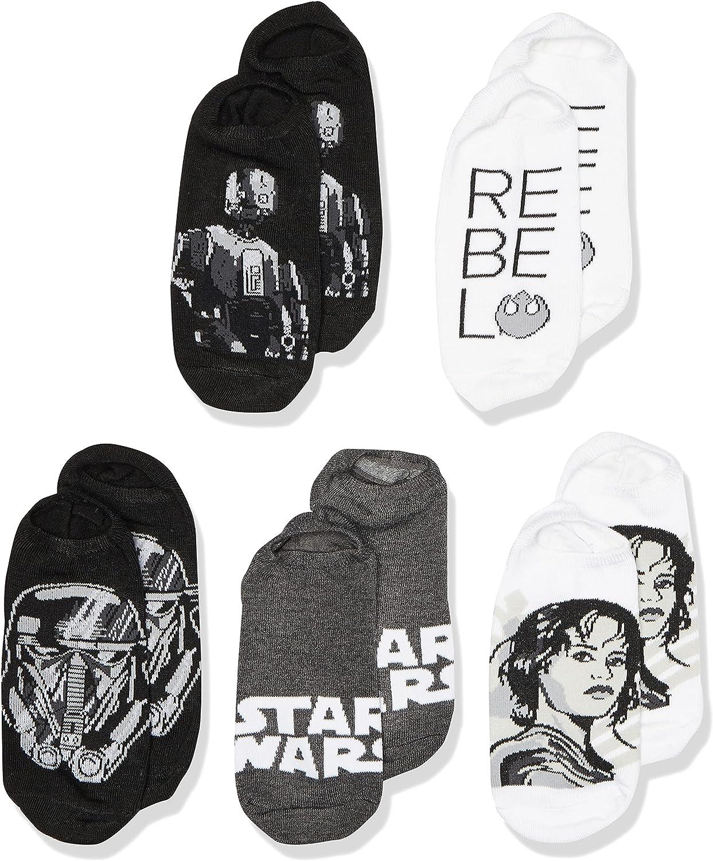 Star Wars Boys 5 Pack No Show Socks