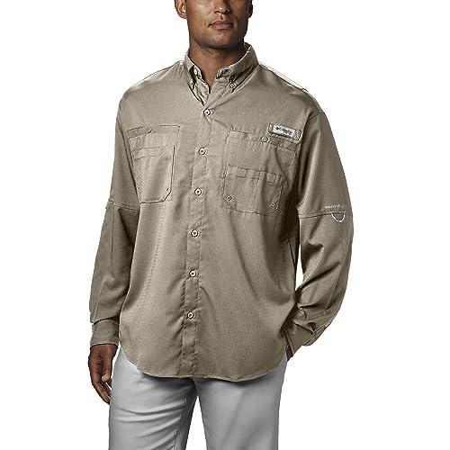 50f6a7b0a9b Columbia Men's PFG Tamiami II Long Sleeve Shirt, UPF 40 Sun Protection,  Wicking Fabric