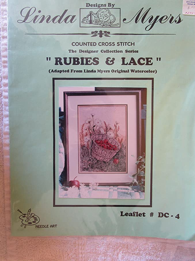 Rubies & Lace Counted Cross Stitch Chart