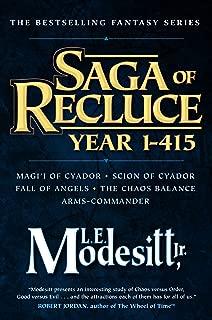 Saga of Recluce, Year 1-415: (Magi'i of Cyador, Scion of Cyador, Fall of Angels, The Chaos Balance, Arms-Commander)
