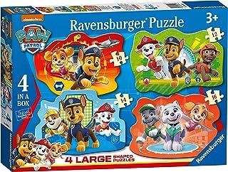 Ravensburger Puzzle, Paw Patrol, 4 Puzzle Shaped Giant, Puzzle Niños, Edad Recomandada 3+, 10-12-14-16 Piezas