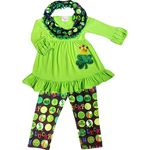 f917c221e7821 Baby Toddler Little Girls St. Patrick's Day Luck of Irish Outfit Set - Tunic  Leggings