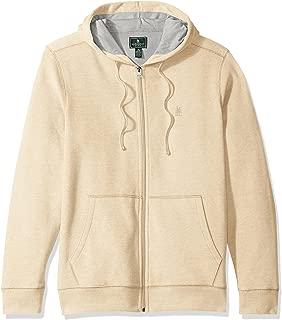 Men's Mountain Long Sleeve Full Zip Sueded Fleece Hoodie Sweatshirt