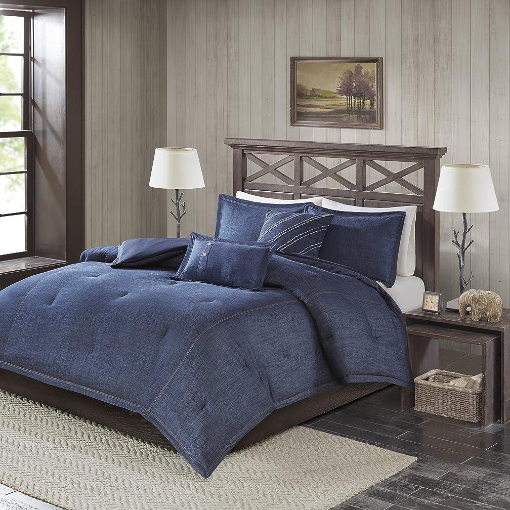 Woolrich Perry Oversized Denim Comforter Set, Blue