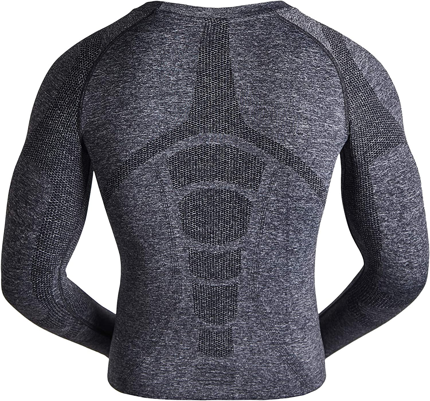 DREAMYOGA Boys Girls Thermal Long Sleeve Tops Fleece Lined Compression Base Layer Shirts Underwear Crew Neck