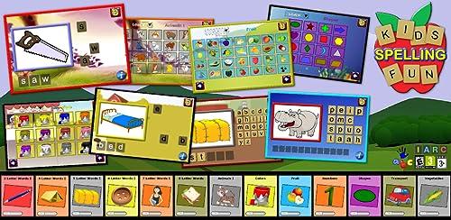 『子供学ぶスペル楽しい - 500 の一般的な英単語を教える』のトップ画像