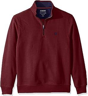 Izod Men's Advantage Performance Quarter Zip Fleece Pullover Sweater