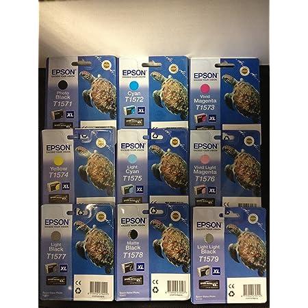Epson T1571 Tintenpatrone Schildkröte Singlepack Schwarz Bürobedarf Schreibwaren