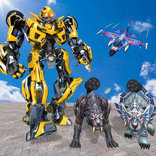 Multi Robot Transform Battle, Police Dog, Tiger &...