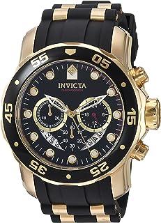 Invicta 6981 Watch Men's Pro Diver Analog Swiss Chronograph Black Polyurethane