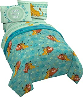 Best Disney Lion King Fun In The Sun 5 Piece Full Bed Set - Includes Reversible Comforter & Sheet Set - Bedding Features Simba, Pumbaa, & Timone - Super Soft Microfiber - (Official Disney Product) Review
