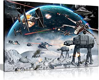 Panther Print Star Wars Canvas Art Print Framed Picture Large 20x 30Inches A1by