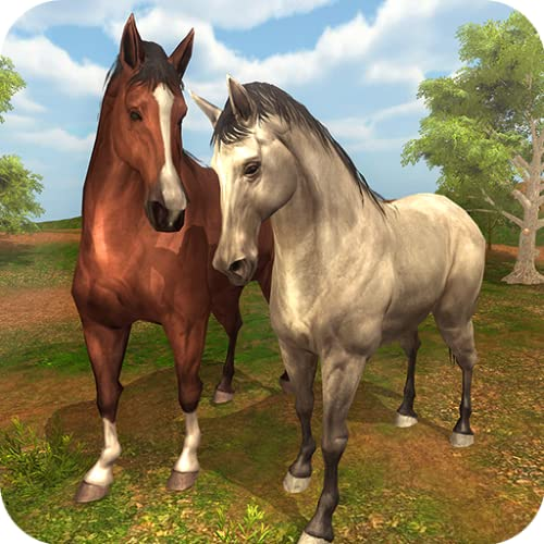Wildpferde Familien Simulator - Virtuelles Tierpferd Wild Lebendes Überlebens Spiel