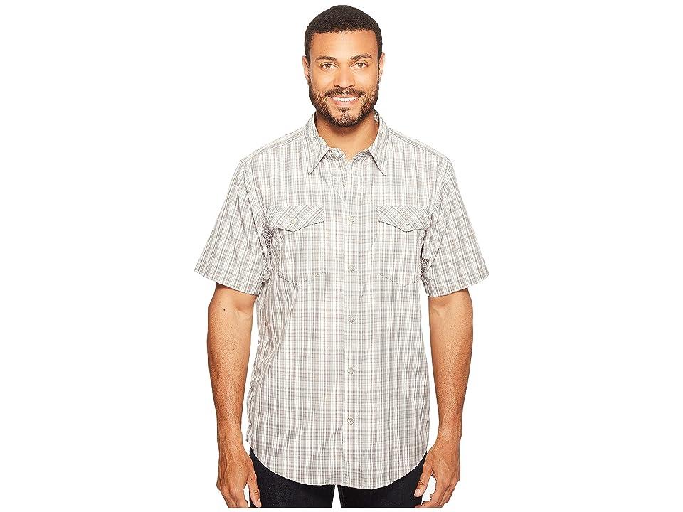ExOfficio Arruga Plaid Short Sleeve Shirt (Cement) Men
