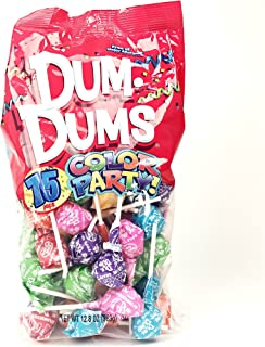 Rainbow Dum Dums Color Party - Assorted Flavors - 75 Count Bag - 12.8 ounces - Includes Free How To Build a Candy Buffet Guide