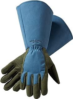 Safety Works 054B/L West County Rose Gauntlet Glove, Large, Slate Blue