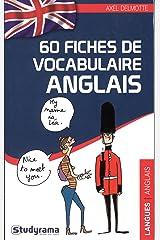 60 fiches de vocabulaire anglais Broché