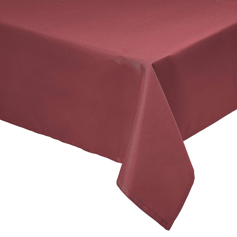 公式ショップ Amazon Basics Rectangle Washable Polyester Fabric SEAL限定商品 Tablecloth 9 -