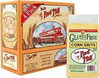 Bob's Red Mill Gluten Free Corn Grits Polenta, 24 Oz (4 Pack)