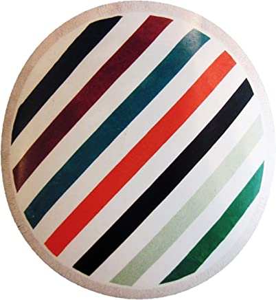 Noble Excellence Bold Stripes Round Beach Towel