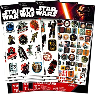 Star Wars Stickers Party Favor Pack (330 Stickers -- Featuring BB-8, Finn, Rey, Kylo Ren, Chewbacca and More!)