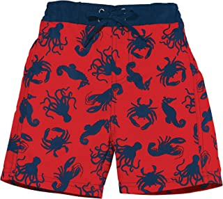 Sun Smarties UPF 50+ Sea life Swim Trunk with Washable Swim Diaper 12M Red, Blue