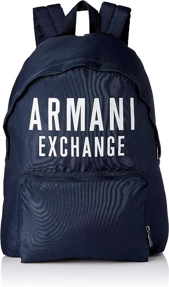 Armani exchange backpack, zaino per uomo, tracolle imbottite e regolabili, 100% poliestere, impermeabile 952199 9A124B