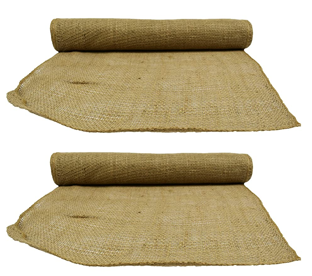 Set of 2 Premium Quality 5yd Burlap Craft Rolls! Great for Many Craft Projects! Table Runners, Container Wraps, and More!! (2 Burlap Rolls)