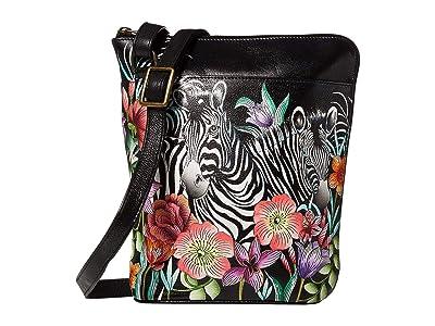 Anuschka Handbags Two Sided Zip Travel Organizer 493 (Playful Zebras) Cross Body Handbags