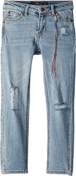 Giselle Rip and Repair Jeans in Tori Wash (Little Kids)