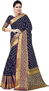 SORU FASHION Women's Banarasi Art Silk Saree With Blouse Piece