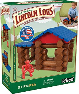 LINCOLN LOGS – Forge Mill Cabin – 51 Pieces – Ages 3+ – Preschool Educational Toy