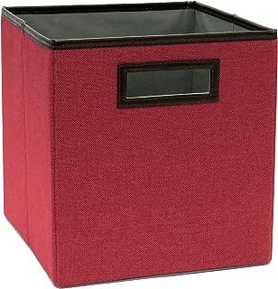 ClosetMaid 1132 Cubeicals Premium Fabric Drawer with Decorative Trim, Rose Red Linen