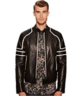 Just Cavalli - Contrast Moto Leather Jacket